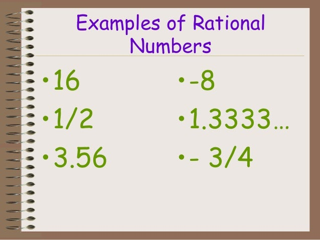 Rational Numbers Class 9th