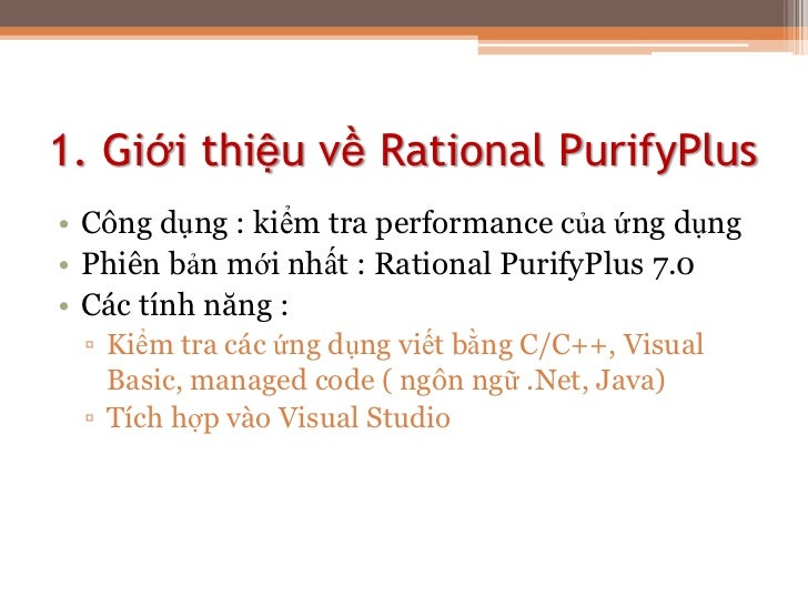 how to use rational purify