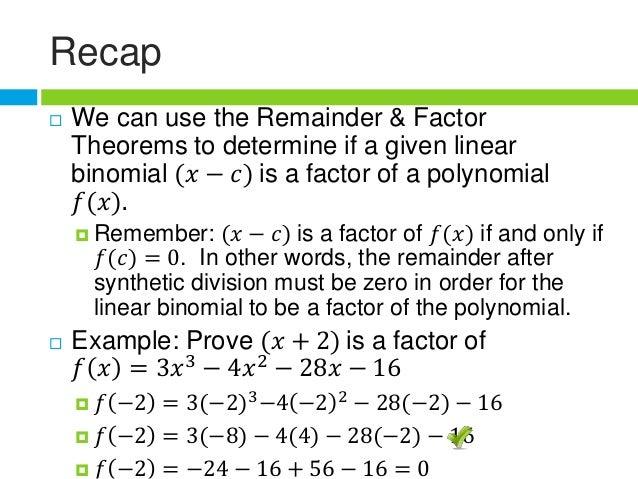 Rational Root Theorem – Remainder Theorem Worksheet