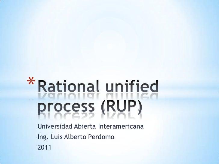 *    Universidad Abierta Interamericana    Ing. Luis Alberto Perdomo    2011