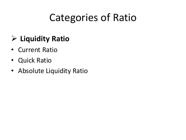 liquidity ratio analysis Liquidity ratios measures a company's ability to pay off its short-terms debts and  obligations.