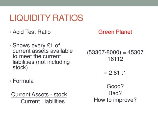 ratio formula The current ratio measures the proportion of a company's current assets to its current liabilities and is a good snapshot of its financial health.