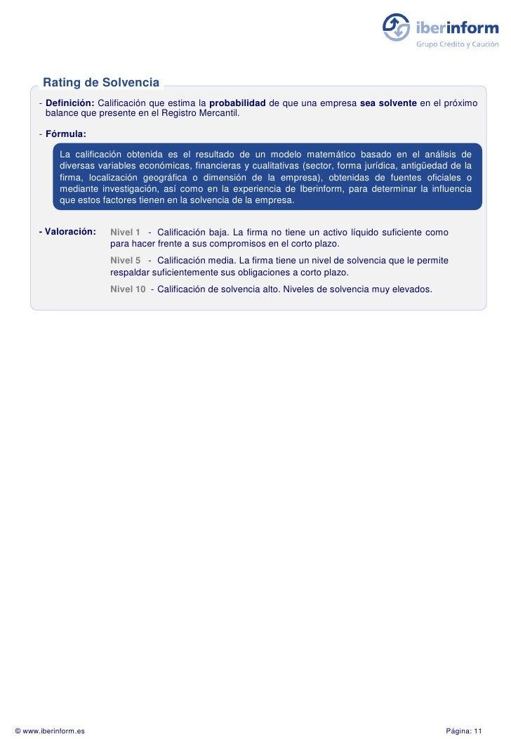 Rating de Solvencia       - Definición: Calificación que estima la probabilidad de que una empresa sea solvente en el próx...