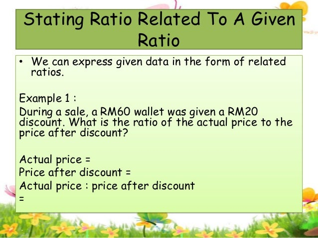Ratios, rates and proportions slide