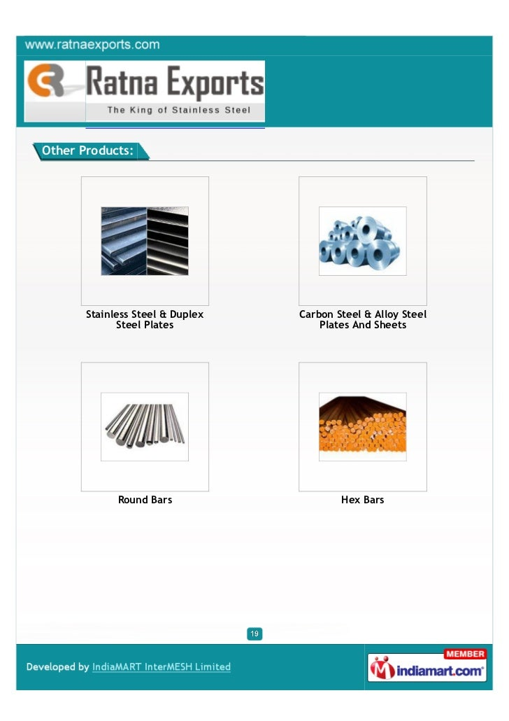 Other Products:       Stainless Steel & Duplex   Carbon Steel & Alloy Steel              Steel Plates            Plates An...