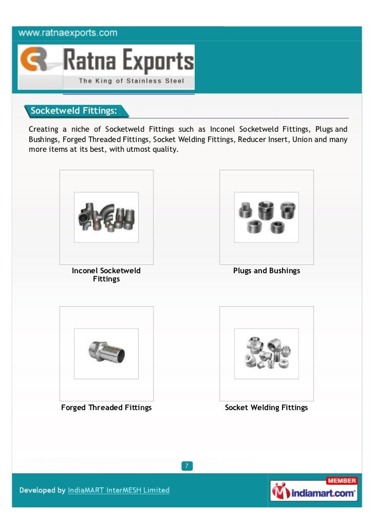 Socketweld Fittings:Creating a niche of Socketweld Fittings such as Inconel Socketweld Fittings, Plugs andBushings, Forged...