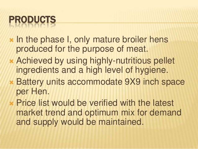 broiler chicken farming business plan