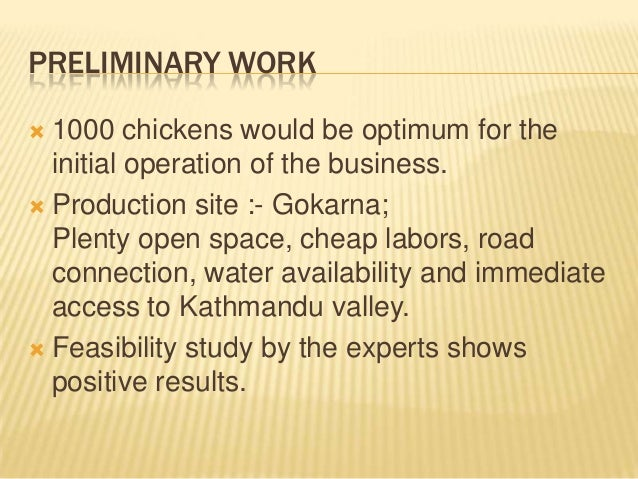 2018 Poultry Farming Business Plan / Feasibility Studies In Nigeria PDF
