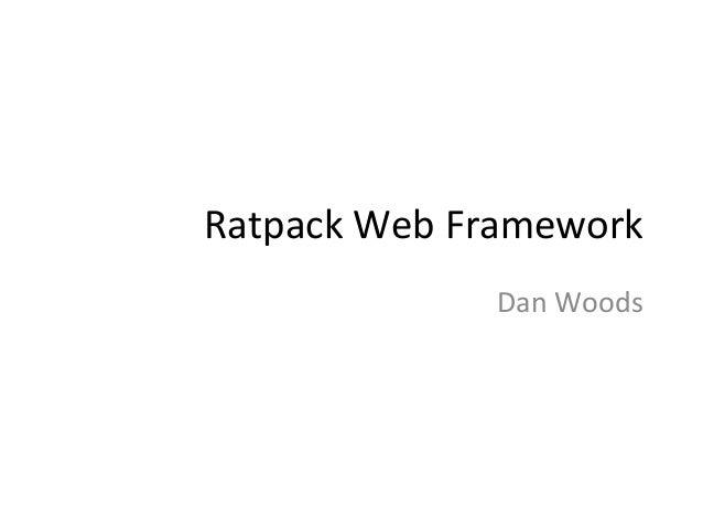 Ratpack  Web  Framework   Dan  Woods
