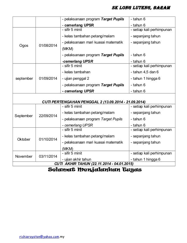 SK Long Luteng, Baram - pelaksanaan program Target Pupils - cemerlang UPSR - tahun 6 - tahun 6 Ogos 01/08/2014 - sifir 5 m...