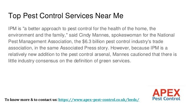 """Top Pest Control Services Near Me IPM is """"a better approach to pest control for the health of the home, the environment an..."""