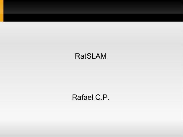 RatSLAM  Rafael C.P.