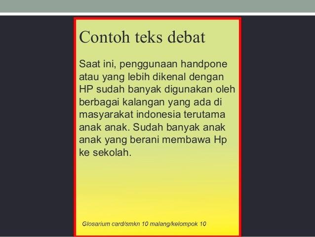 Glosarium Card Teks Debat Ratu Yunika X Mm3 Vocsten Malang