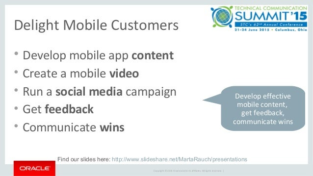 Delighting mobile customers with content for apps, videos, and a social media campaign Slide 3