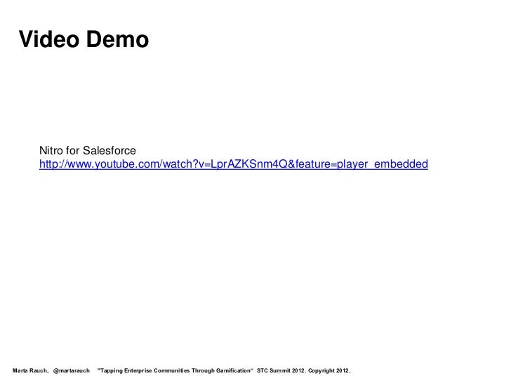 Video Demo        Nitro for Salesforce        http://www.youtube.com/watch?v=LprAZKSnm4Q&feature=player_embeddedMarta Rauc...