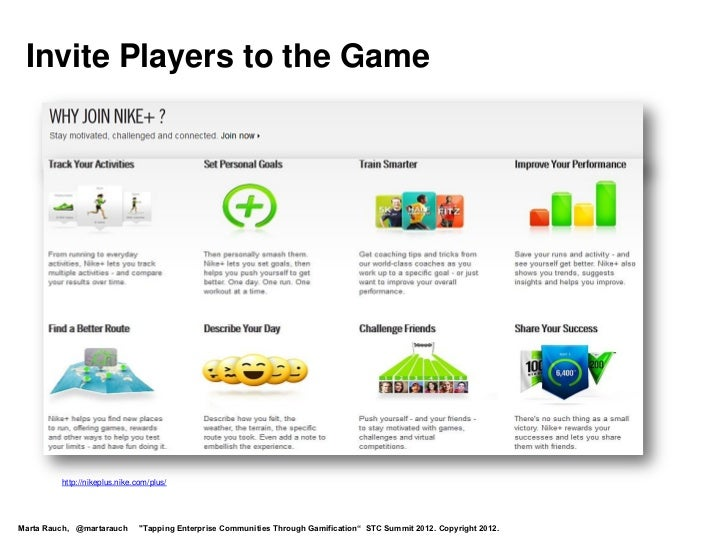 """Invite Players to the Game         http://nikeplus.nike.com/plus/Marta Rauch, @martarauch       """"Tapping Enterprise Commun..."""