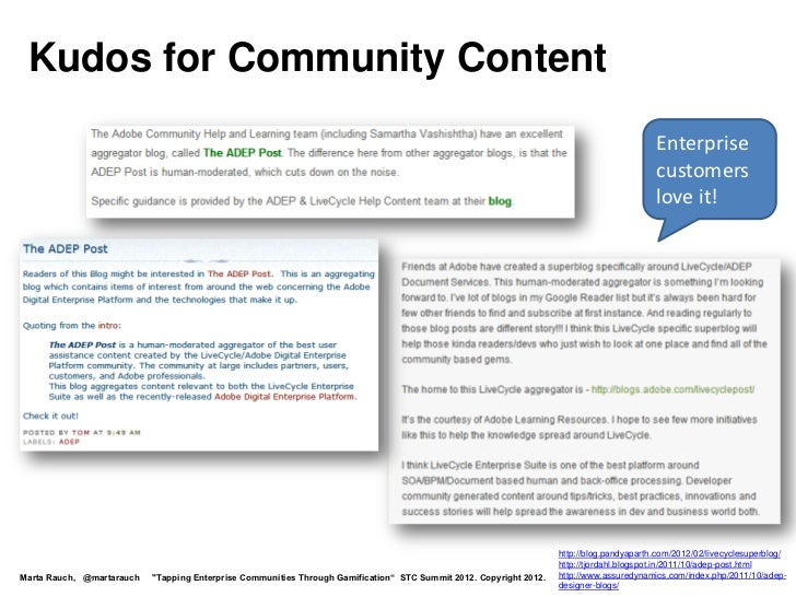 Kudos for Community Content                                                                                               ...