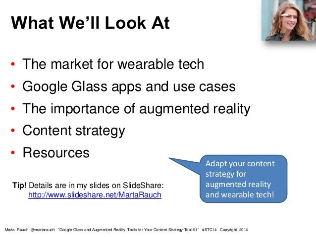 Google Glass and Augmented Reality - tools for your content strategy tool kit Slide 2
