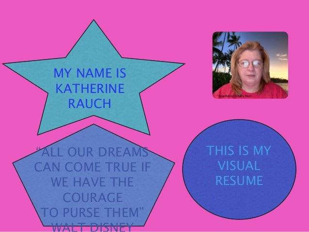 "MY NAME IS  KATHERINE         ""Image Belongs to Kathy Rauch    RAUCH""ALL OUR DREAMS    THIS IS MYCAN COME TRUE IF    VISUA..."