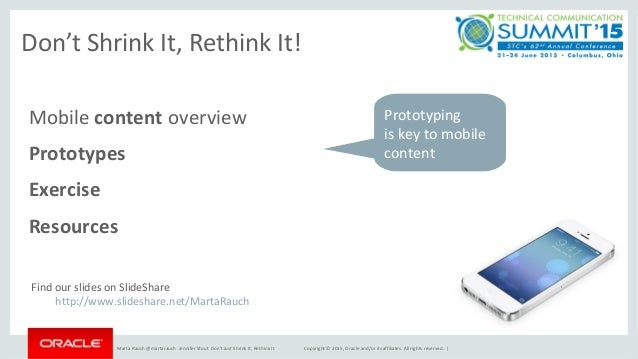Writing for Mobile: Don't Shrink It, Rethink It Slide 3