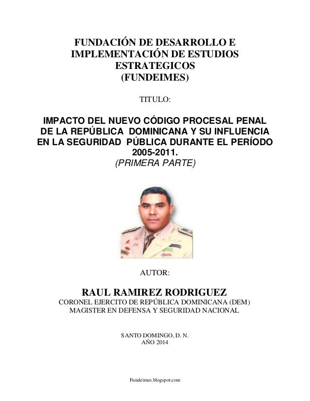 Fundeimes.blogspot.com FUNDACIÓN DE DESARROLLO E IMPLEMENTACIÓN DE ESTUDIOS ESTRATEGICOS (FUNDEIMES) TITULO: IMPACTO DEL N...