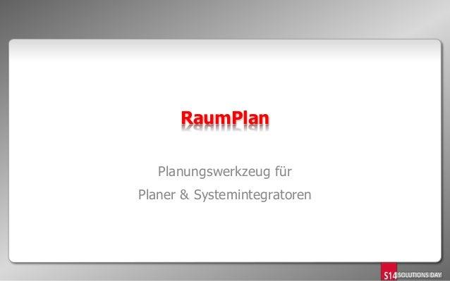 RaumPlan Planungswerkzeug für Planer & Systemintegratoren