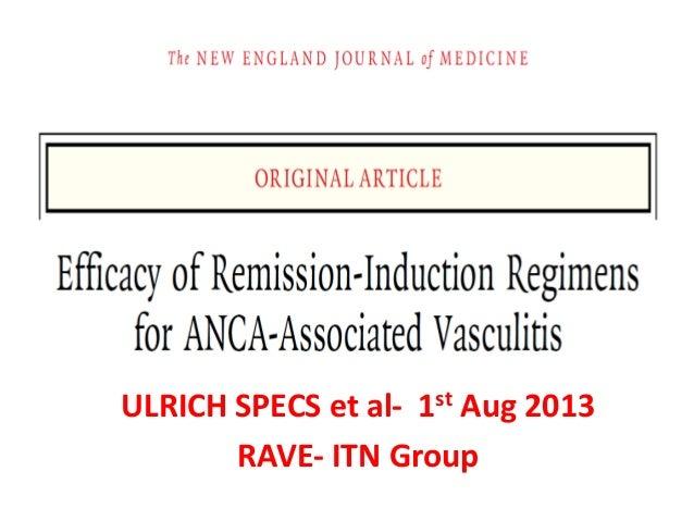 ULRICH SPECS et al- 1st Aug 2013 RAVE- ITN Group