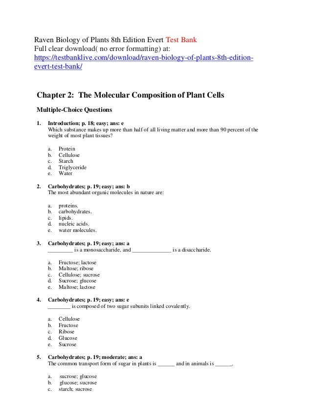 Raven biology of plants 8th edition evert test bank by owen286 issuu.