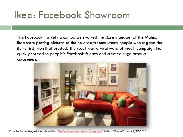 SOCIAL MEDIA IN ACTION EXAMPLES 18 Ikea Facebook Showroom This Marketing Campaign