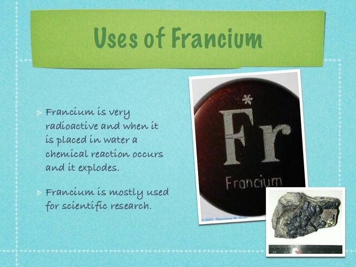 Fr Francium