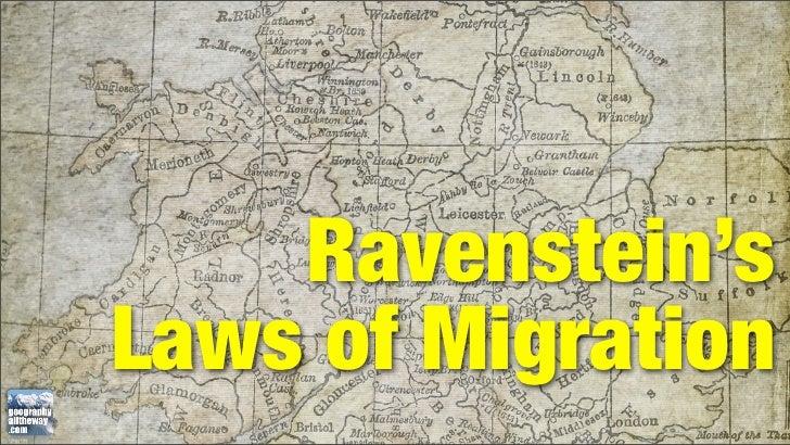 Ravenstein'sLaws of Migration