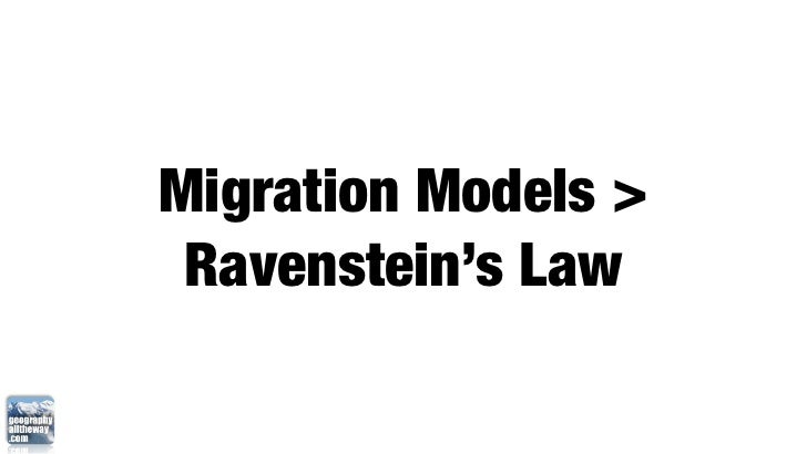 IB Geography: Patterns and Change > Ravenstein's Laws