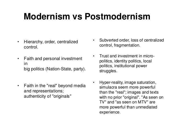 Reality and representation postmodern media essay