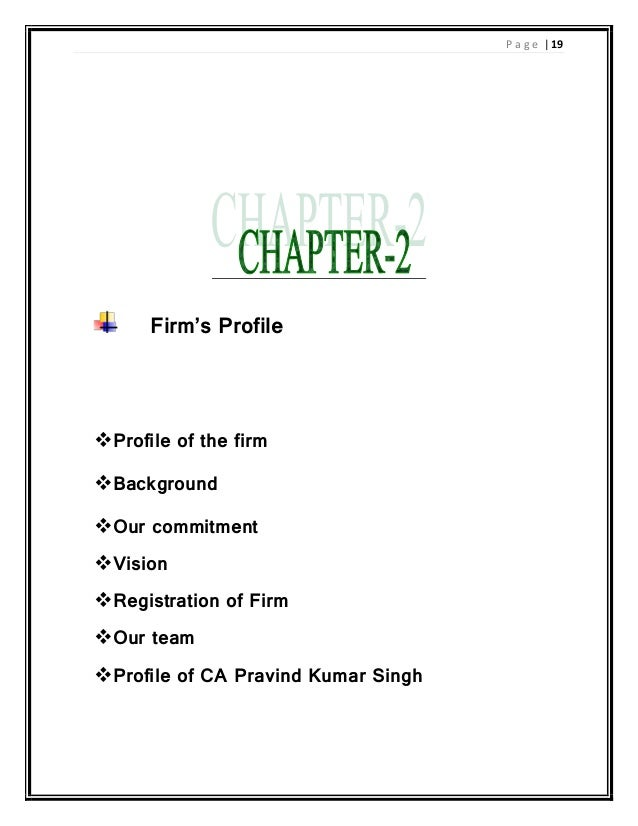 ca firm profile pdf