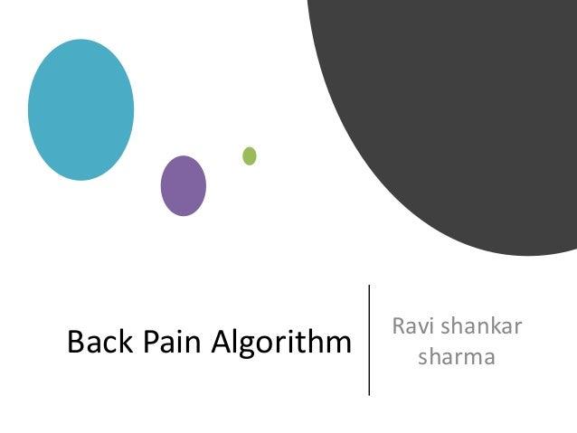 Back Pain Algorithm Ravi shankar sharma