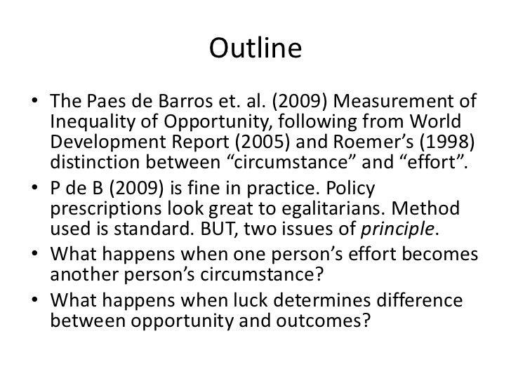 Ravi Kanbur - Equality of opportunity