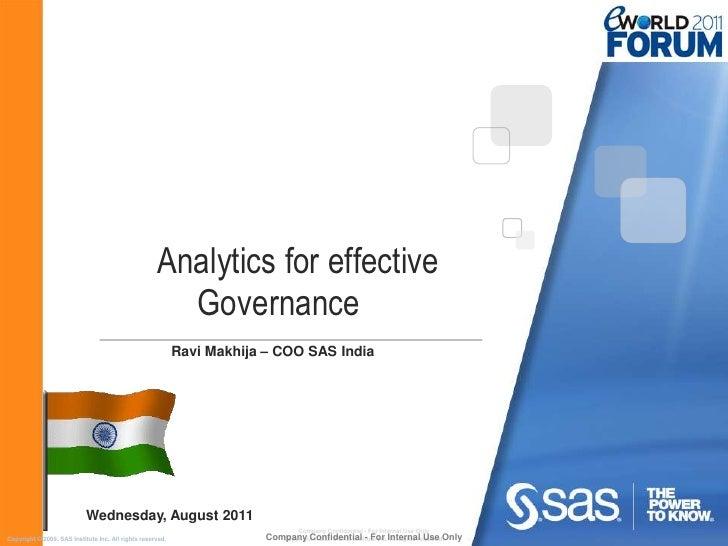 Analytics for effective                                                       Governance                                  ...