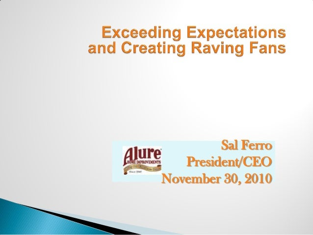 Sal Ferro President/CEO November 30, 2010