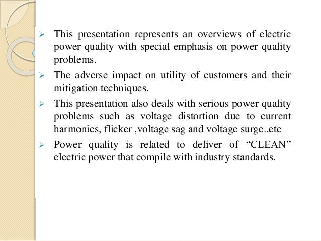 Power Quality Problems And Mitigation Techniques Pdf