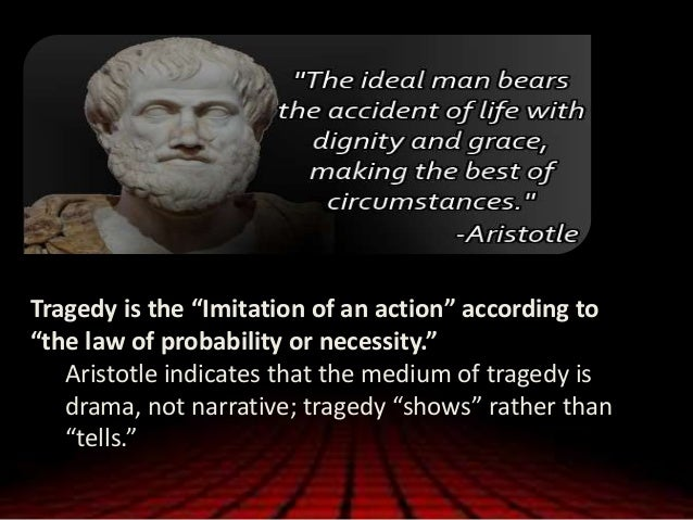 an analysis of the aristotles definition of tragedy Othello and the aristotle tragedy  that might well illustrate shakespeare's understanding of aristotle's definition of tragedy,  an analysis.