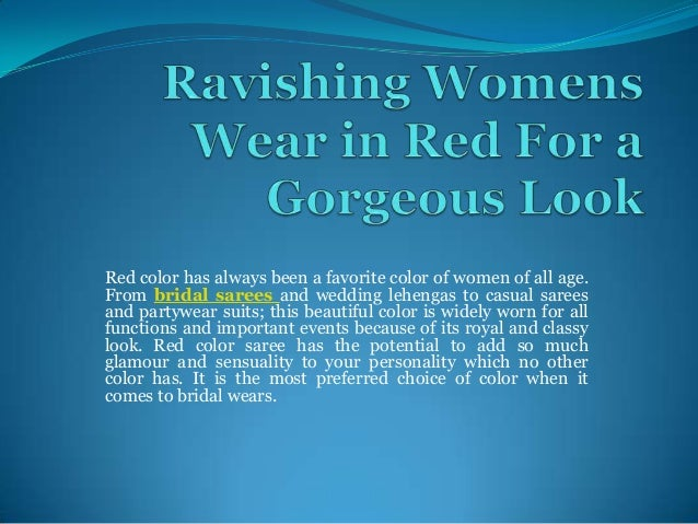 Red color has always been a favorite color of women of all age. From bridal sarees and wedding lehengas to casual sarees a...