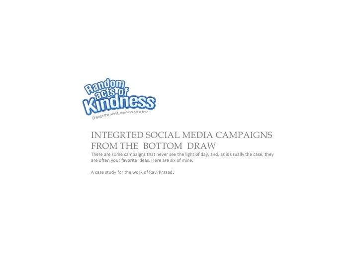 INTEGRTED SOCIAL MEDIA CAMPAIGNSFROM THE BOTTOM DRAWThere are some campaigns that never see the light of day, and, as is u...