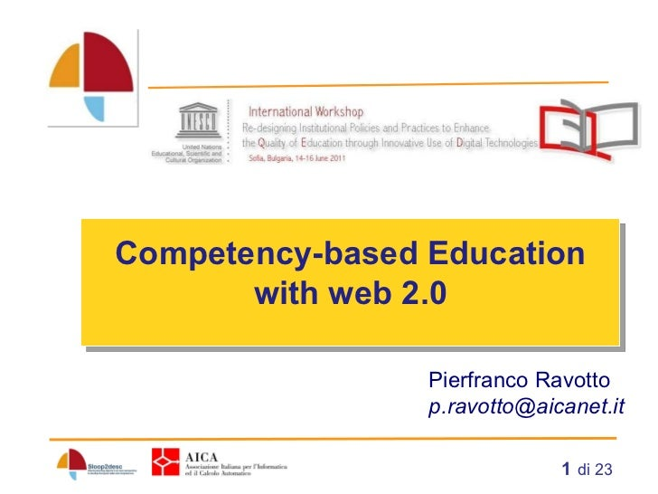 di 23 Competency-based Education with web 2.0   Pierfranco Ravotto [email_address]