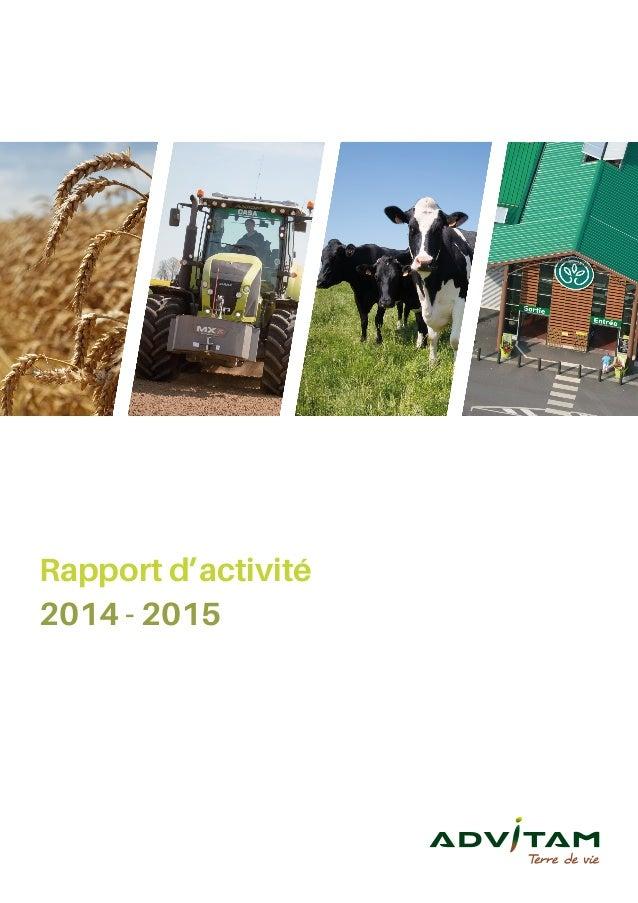 Rapport d'activité 2014 - 2015