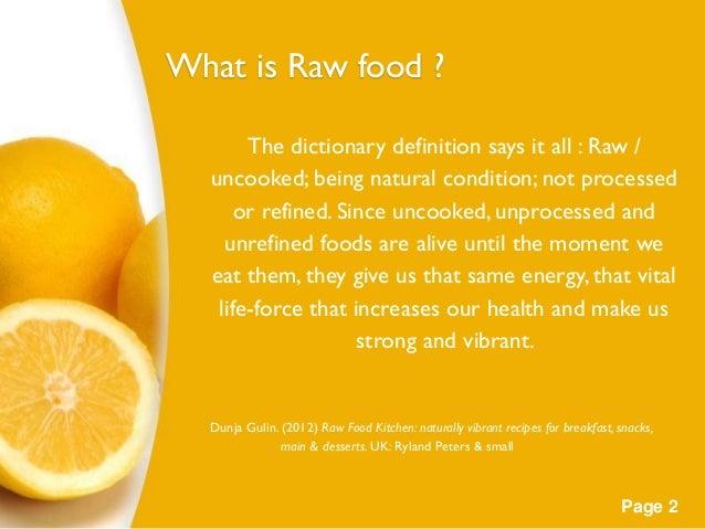 raw food definition