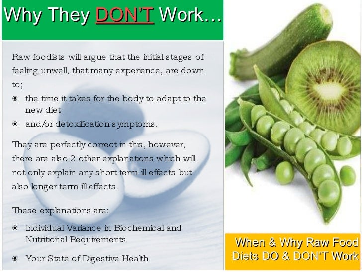 how does the raw food diet work