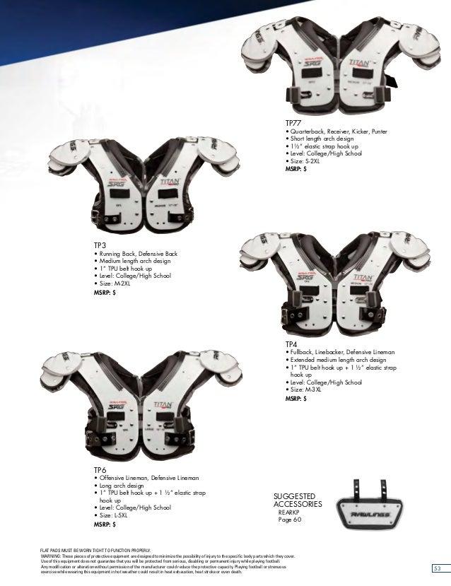 XL P QB WR Neu Rawlings Shoulderpad SRG Titan Pro TP77 Gr K