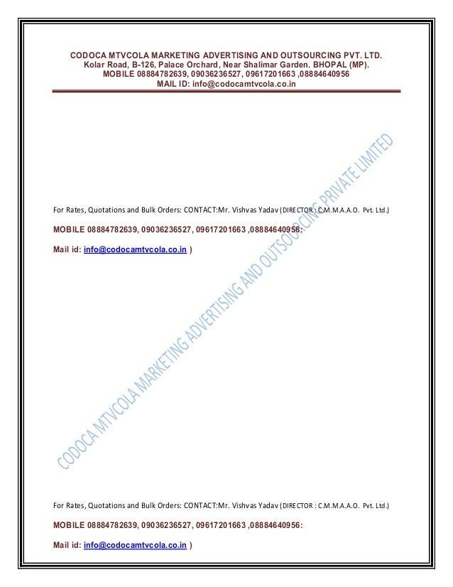 Raw material c.m.m.a.a.o. pvt. ltd Slide 3