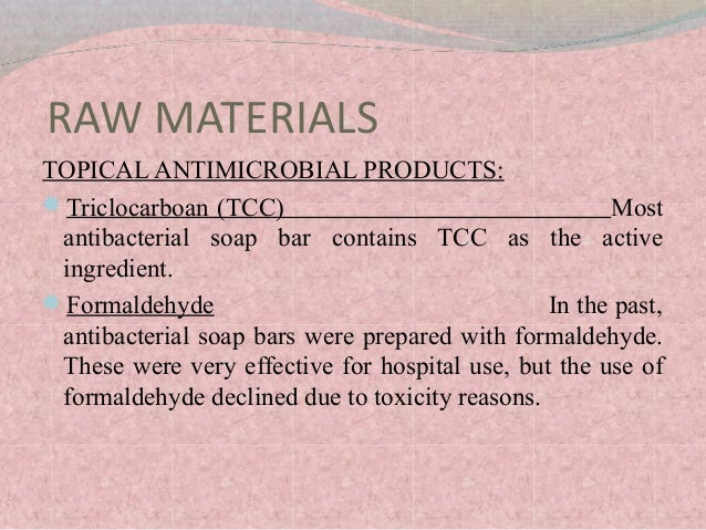 RAW MATERIALS USED IN COSMETICS BY ROOMA KHALID