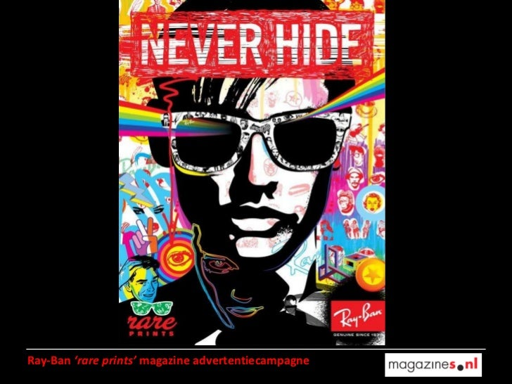 Ray-Ban  'rare prints'  magazine advertentiecampagne